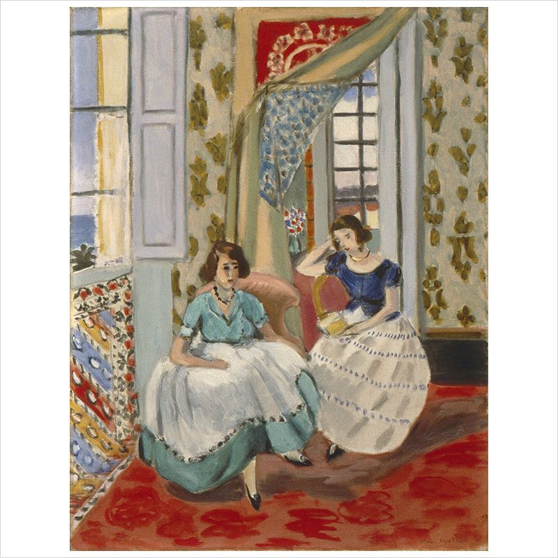 Awesome Two Girls In Nice 1921 Focus On Matisse Download Free Architecture Designs Viewormadebymaigaardcom